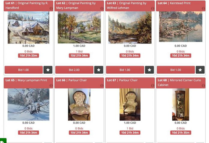Curated in downtown Peterborough has launched an online auction service to help its clients sell items. (Screenshot)