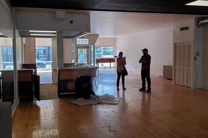 Electric City Works' new downtown Peterborough store and marketspace during renovations earlier this fall. The grand opening of the completed space, which houses 12 makers so far, takes place on November 15, 2019. (Photo: Electric City Works / Facebook)