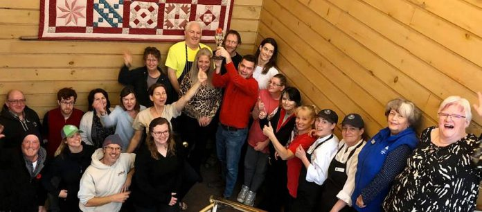 Staff at Elmhirst's Resort in Keene celebrate the 2019 Tourism Employer of the Year from the Tourism Industry Association of Ontario. (Photo: Elmhirst's Resort / Facebook)