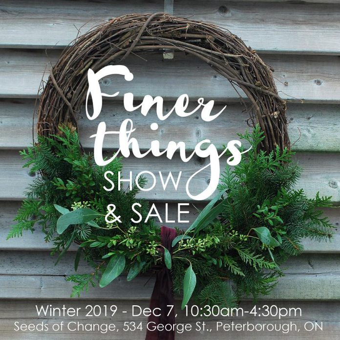 The 5th annual holiday Finer Things Show and Sale takes place from 10:30 a.m. to 4:30 p.m.  on Saturday, December 7th at Seeds of Change at Emmanuel United Church in downtown Peterborough. (Photo courtesy of Finer Things Show and Sale)