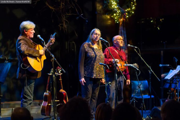 In the 20 years since Rob Fortin, Susan Newman, John Hoffman, and Curtis Driedger (not pictured) first launched the annual In From The Cold concert, it has raised over $130,000 for YES Shelter for Youth and Families. This year's concert takes place on December 6 and 7, 2019. (Photo: Linda McIlwain / kawarthaNOW.com)