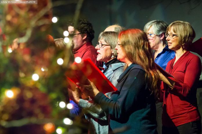 In From The Cold features the lush harmonies of Carried Away and the Convivio Chorus, with original choral arrangements by Susan Newman and John Hoffman. This year's concert takes place on December 6 and 7, 2019. (Photo: Linda McIlwain / kawarthaNOW.com)
