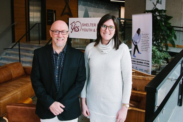 John Hoffman, co-founder and director of In From the Cold, with Meagan Hennekam, executive director of the YES Shelter for Youth and Families. Over the past 20 years, the In From the Cold concert has raised over $130,000 in support of YES. (Supplied photo)
