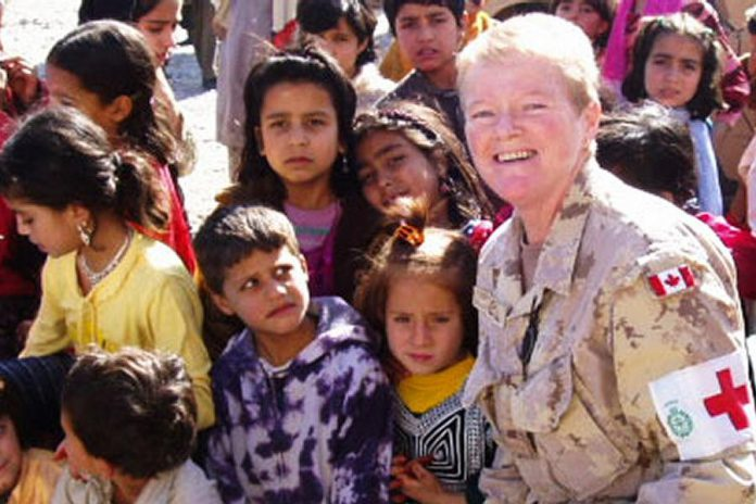 Lee-Ann Quinn served for 23 years in the Canada Forces as a military nurse, including four tours in the former Yugoslavia, Somalia, Rwanda, and Afghanistan.