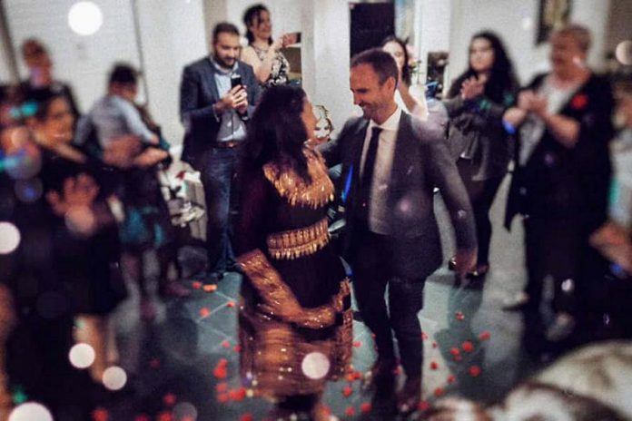 Liberal MP for Peterborough-Kawartha Maryam Monsef and former Liberal MP for Fredericton Matt DeCourcey celebrate their engagement at a family gathering in Peterborough on November 7, 2019. (Photo: Jessica Melnik / Facebook)