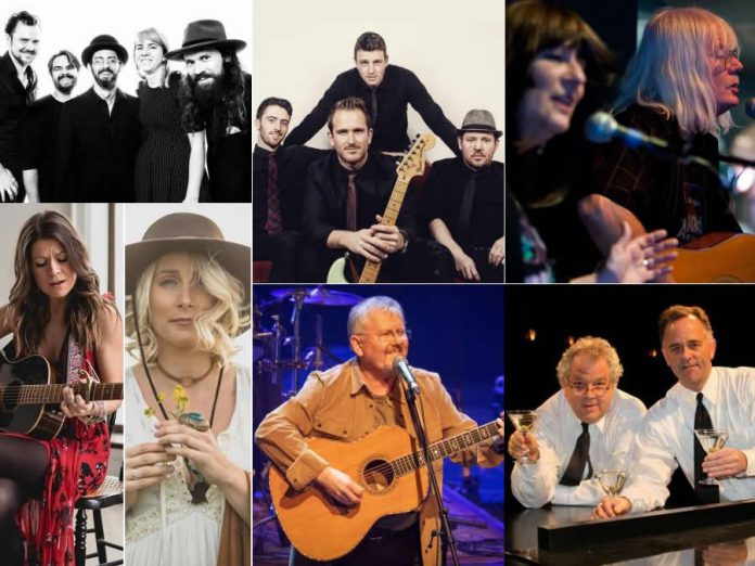 Peterborough Performs, taking place on March 5, 2020 at Showplace Performance Centre, features 16 musical acts raising funds for United Way Peterborough and District. Performers in the Erica Cherney Theatre are (left to right, top to bottom): The Weber Brothers Band, The Austin Carson Band, the Peterborough All-Star Band fronted by Rick and Gailie Young, Kate Suhr and Melissa Payne, Danny Bronson, and The Three Martinis. An additional 10 musicians will be performing in the Nexicom Studio and in the Showplace lobby. The event will be emceed by Megan Murphy and Jordan Mercier, with all proceeds going exclusively toward homelessness and shelter-related initiatives undertaken by United Way-supported agencies.