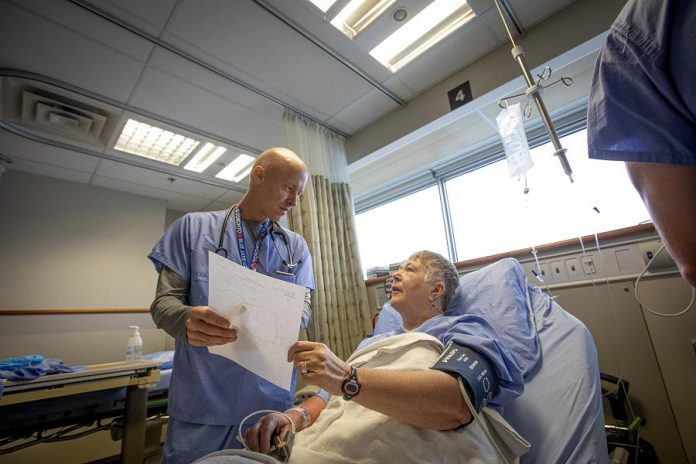 Interventional Cardiologist Dr. Warren Ball and his colleagues  at Peterborough Regional Health Centre's Cardiac Catheterization Lab treat thousands of patients from across central eastern Ontario every year. Patients come from across Peterborough and Peterborough County, Lindsay and the City of Kawartha Lakes, Campbellford, Cobourg and Port Hope, the Durham region, all the way north to Haliburton Highlands, and all points in between. (Promotional photo courtesy of PRHC Foundation)