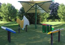 Proceeds from the 2019 Kawartha Rotary Christmas Auction, which runs online from November 18th to December 1st, will support the purchase of an outdoor musical instrument play area for children at the Riverview Park and Zoo in Peterborough. The outdoor instruments, invented by Grammy award-winning musician Richard Cooke, will be supplied by Colorado-based company Freenotes Harmony Park, which has installations around the world including at the Montreal International Jazz Festival. (Photo: Freenotes Harmony Park)