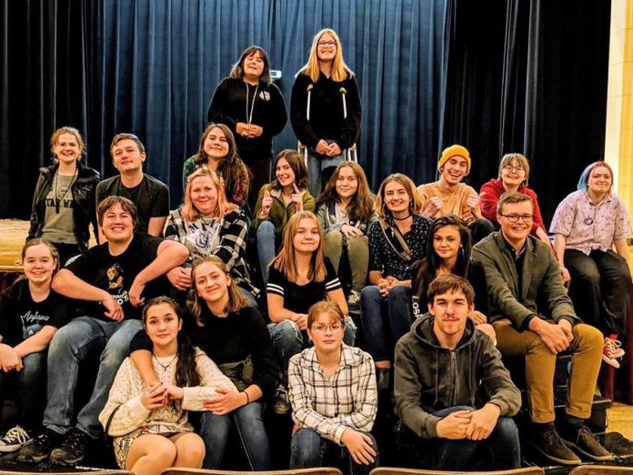"The cast of Enter Stage Right's ""Of Mortals and Myths"", which is premiering in April 2020. Proceeds from this year's Storm the Stage event will support the spring musical, as well as the company's scholarship fund. (Photo courtesy of Enter Stage Right)"