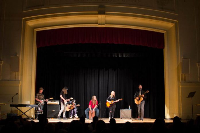 The Norwood District High School Guitar Club performing at the PCVS Auditorium in downtown Peterborough during Storm the Stage in 2015.   (Photo courtesy of Enter Stage Right)