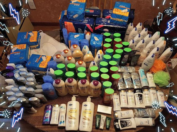 A couple used their grocery store reward points to purchase and donate these toiletries to The Rose Project. In addition to supporting local families during the holidays, The Rose Project intends to make donations to the Northumberland Centre for Independent Studies, an adult learning centre that creates Christmas baskets for students in need who are in the process of turning their lives around. (Supplied photo)