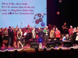 """The 16th annual """"A Cozy Christmas"""" family concert takes place on December 15, 2019 at Showplace Performance Centre in downtown Peterborough. Presented by Humanwave and featuring the Foley family and friends, the concert aims to raise enough funds to pay a single month's wages for each of 27 teachers at Hungerpillar School in Liberia, West Africa. A shopping village and silent auction in the Nexicom Studio will also raise funds for the drilling of safe water wells. (Supplied photo)"""