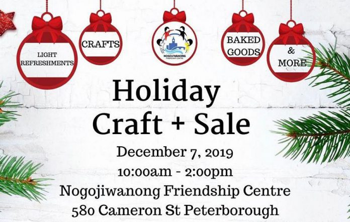 Holiday Craft Sale at the Nogojiwanong Friendship Centre