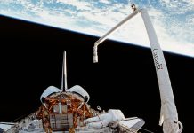 Canadian space robotics company MDA Corporation built the Canadarm robotic arm for NASA's space shuttle program. Peterborough-raised billionaire Jim Balsillie is one of a consortium of Canadian investors acquiring MDA Corporation, headed by Peterborough native Mike Greenley, from its American parent company. (Photo: NASA)