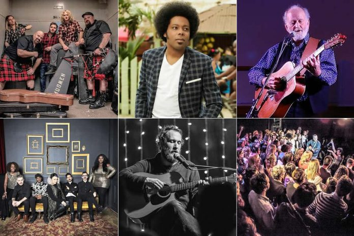 Choose local and give the gift of live music this holiday season. Tickets are available for the following shows presented by Market Hall Performing Arts Centre in January and February: Celtic rock warriors Mudmen, Cuban singer-songwriter Alex Cuba, legendary folk artist Valdy, blues-soul band Samantha Martin & Delta Sugar, singer-songwriter Craig Cardiff, and the interactive choir group Choir! Choir! Choir! (Publicity photos)
