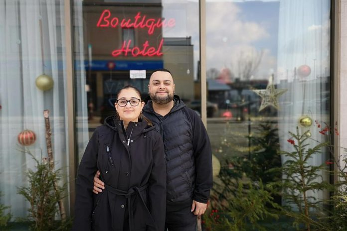 Brijender and Jasleen Sahni, owners and operators of Peterborough Inn & Suites Hotel in downtown Peterborough since 2009, are long-time advocates of choosing local. (Supplied photo)