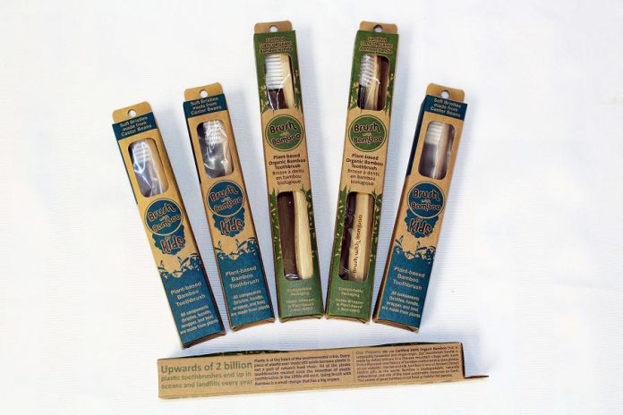 Bamboo toothbrushes from Brush with Bamboo. (Photo courtesy of GreenUP)