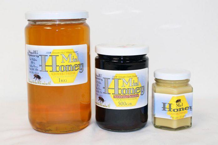 Local honey from OtonaBEE Apiary. (Photo courtesy of GreenUP)