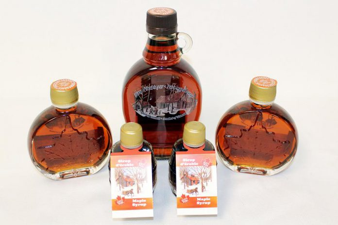Ontario maple syrup from Golden Treasures.  (Photo courtesy of GreenUP)
