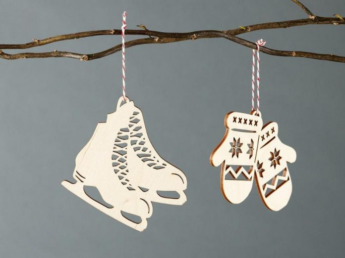 Ontario-made wooden ornaments from Light & Paper. (Photo courtesy of Light & Paper)