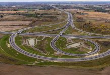 The new interchange between Highway 407 and Highway 35/115 will be open to drivers beginning December 9, 2019, ahead of schedule. (Photo: Blackbird Infrastructure Group)