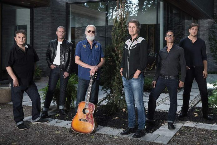 Canadian country-rock legends Blue Rodeo (Bazil Donovan, Colin Cripps, Greg Keelor, Jim Cuddy, Glenn Milchem, and Mike Boguski) return to the Peterborough Memorial Centre on Friday, December 27th, with Bailieboro's own Jimmy Bowskill joining the band. (Photo: Dustin Rabin)
