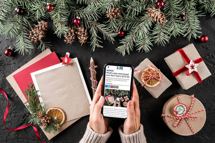 A mobile-friendly list of holiday hours for 259 selected businesses, organizations, and services across the Kawarthas over New Year's 2019-220