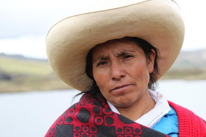 """Máxima"", directed by U.S. filmmaker Claudio Sparrow, is the opening night feature film on January 23, 2020 at the 2020 ReFrame Film Festival in downtown Peterborough. The documentary tells the story of Máxima Acuña, 2016 Goldman Environmental Prize winner for South and Central America, a farmer who stood up for her right to peacefully live off her own land, a plot of land in the Peruvian highlands sought by Newmont and Buenaventura Mining to develop the Conga gold and copper mine. (Photo: Goldman Environmental Prize)"