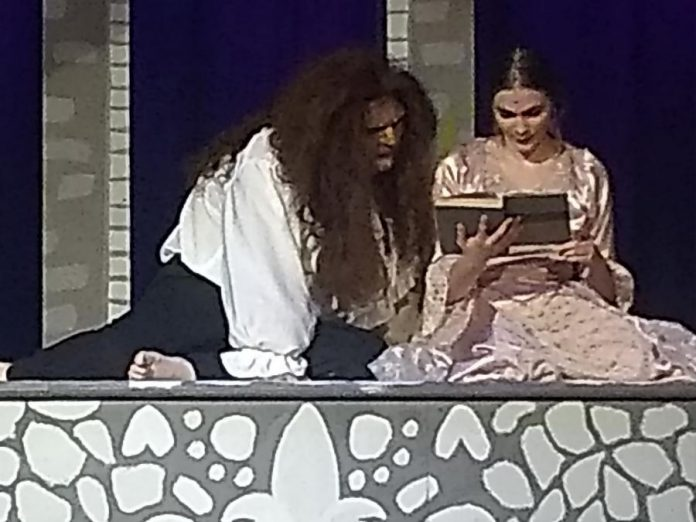 """Aiden Playford as The Beast and Aimée Gordon as Belle in Thomas A. Stewart Secondary School's production of """"Beauty and The Beast - The Broadway Musical"""". (Photo: Sam Tweedle / kawarthaNOW.com)"""