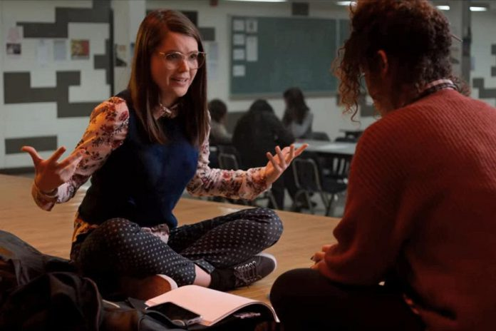 "Anwen O'Driscoll as Cathy MacDonald with Aurora Burghart as Viv Allen in a scene from the Netflix series ""October Faction"". Anwen's character, a high school loner who becomes Viv's confidante, appears in six episodes. (Photo: Netflix)"