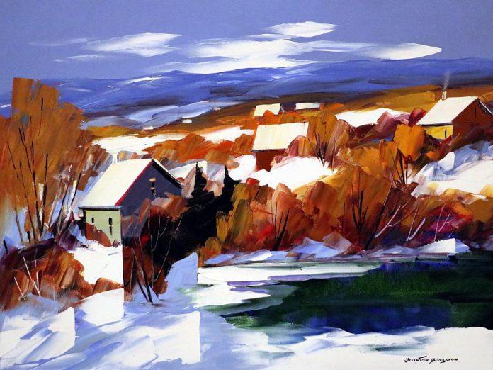 'Neige dans la vallée' by Christian Bergeron. (Photo courtesy of Galerie Q)