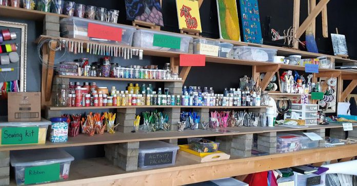 Creating Space, located at PACE at 201 McDonnel Street in Peterborough, is a community arts studio that fosters connection and resilience by making art in Nogojiwanong/Peterborough. (Photo courtesy of Creating Space)