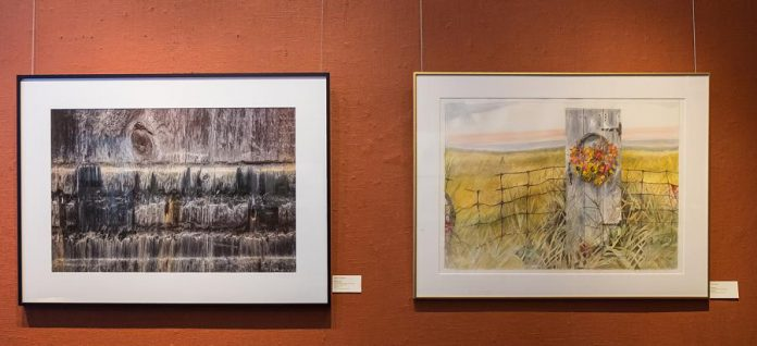 Photos by Peter Large hung at the 'Traces' exhibit, which also features photographs by  Felicity Somerset, at the Arts and Letters Club of Toronto in November 2019.  The exhibit will be on display January and February at the Art Gallery of Northumberland. (Photo: Ontario Society of Artists)