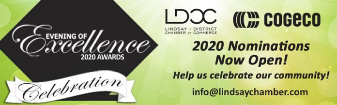 The annual Lindsay and District Chamber of Commerce Evening of Excellence Awards. (Poster: Lindsay Chamber)