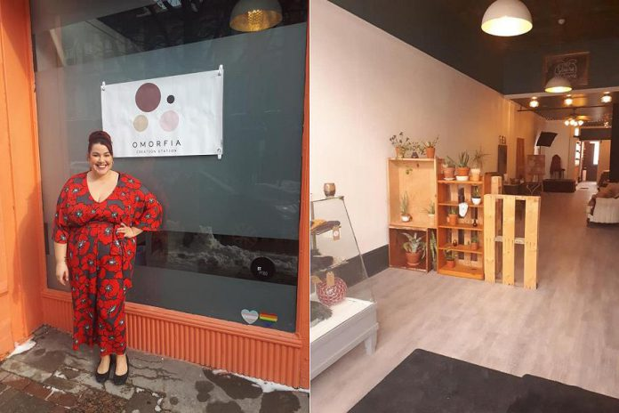 Kristal Jones has opened Omorfia Creation Station in downtown Peterborough. (Photos: Omorfia Creation Station / Facebook)