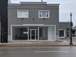 Huge Shops Ontario has applied to the Alcohol and Gaming Commission of Ontario to open a cannabis retail store at 225 George Street North in downtown Peterborough. The Toronto-based cannabis retailer originally proposed a store to be located at the plaza at Fowlers Corners in Kawartha Lakes but decided to move the proposed store after municipal zoning issues were identified with that location. (Photo: Bruce Head / kawarthaNOW.com)