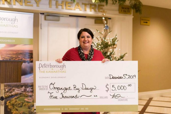 Nicole Cooke of Organized by Design was one of six businesses in Peterborough & the Kawarthas that were the latest Starter Company Plus recipients. Each received a $5,000 grant to support growth in their business. Applications for the next intake of the program are open until January 20th.  (Photo: Alyssa Cymbalista/ PKED)