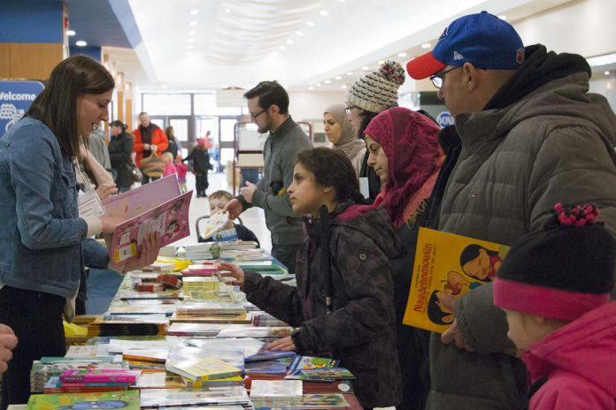 Family Literacy Day, which takes place on January 25, 2020 in Peterborough Square, inspires families to learn together by promoting reading. (Photo courtesy of Peter Rellinger)
