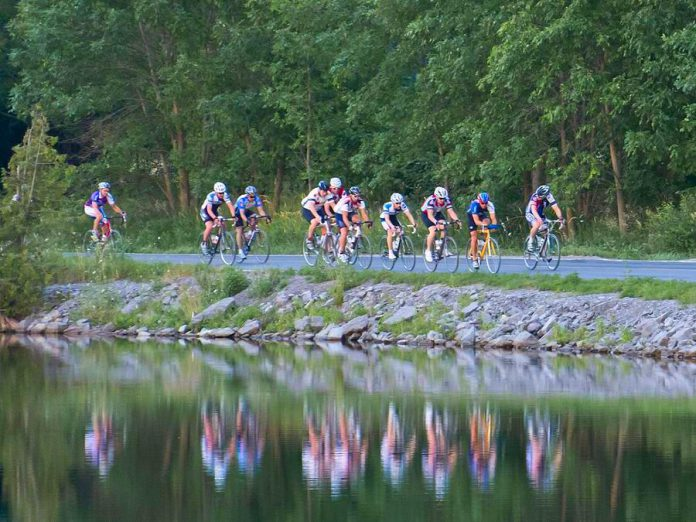 Peterborough and the Kawarthas are a popular destination for cyclists of all sorts. Local residents who are able to can resolve to bike instead of drive with the bonus of enjoying great cycling routes while also reducing their carbon pollution. (Photo courtesy of the Peterborough Cycling Club)