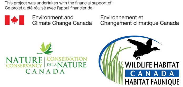 This project was undertaken with the financial support of Environment and Climate Change Canada, the Nature Conservancy of Canada, and Wildlife Habitat Canada.