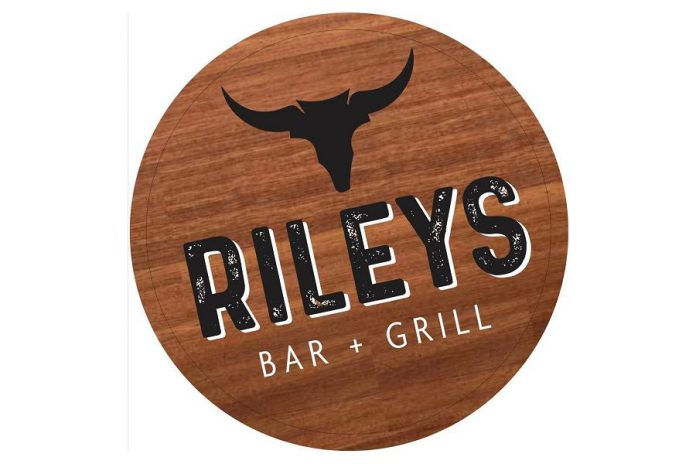 The Riley's Bar and Grill steer logo references Don Riley's other business, Steertech Performance, and is also a nod to his farmer father.  (Logo: Riley's Bar and Grill)