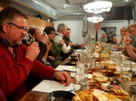 In January, The Cork and Bean in Peterborough is offering a series of tasting workshops including whiskey and scotch. Whiskey and wine consultant Nick Cardwell (at back), will lead the tastings, which include charcuterie. (Photo: The Cork and Bean)