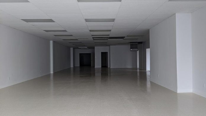 """Inside the proposed new """"Grower's Retail"""" retail cannabis store at 225 George Street North in downtown Peterborough.  (Photo: Bruce Head / kawarthaNOW.com)"""