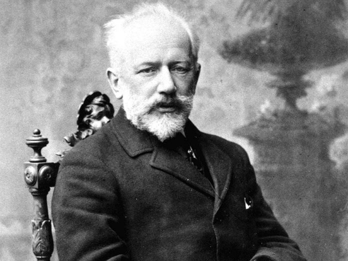 "Russian composer Pyotr Tchaikovsky in 1893, five years after he composed ""Symphony No. 5"". (Public domain photo)"