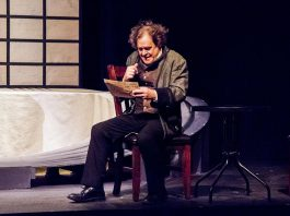 """Christopher Spear performs as Ludwig Von Beethoven in the Peterborough Theatre Guild's production of """"33 Variations"""", written by Moises Kaufma. Directed by Chris Lee, the play also stars Jane Werger as modern-day musicologist Dr. Katherine Brandt, who is obsessed with discovering why Beethoven was himself so obsessed with a mediocre waltz by Austrian music publisher Anton Diabelli that he composed 33 variations of the piece. The play runs from January 17 to February 1, 2020 at the Guild Hall in Peterborough. (Photo: Paul Macklin)"""