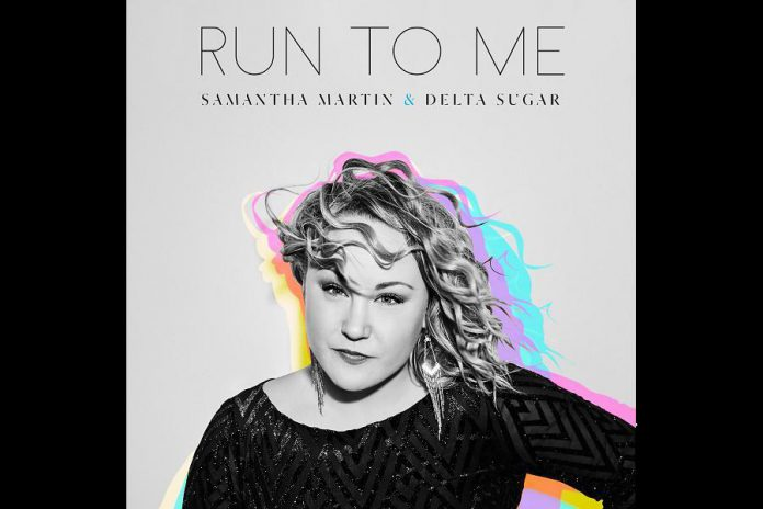 """Samantha Martin & Delta Sugar's latest album """"Run to Me"""" received extensive airplay and earned a 2019 Juno Award nomination and four Maple Blues Award nominations. (Graphic: Gypsy Soul Records)"""