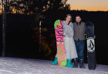 40-year-old Kinmount native and Lindsay resident Wade Hartin, an avid snowboard along with his wife Emily Johnston-Hartin, was killed in an accident on January 14, 2020 while working working at his job as a snow grooming machine operator at Dagmar Ski Resort near Uxbridge. Emily is due to give birth to the couple's first child in April, and a GoFundMe campaign has been set up to support Emily and Baby Hartin. (Photo supplied by Ashley Webster)