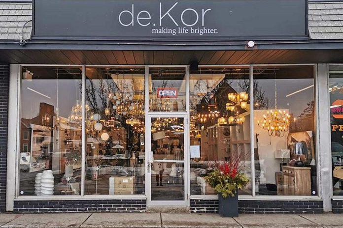 Home lighting and decor retail store de.Kor is now open at 97 Hunter Street East in Peterborough's East City. (Photo: de.Kor / Facebook)