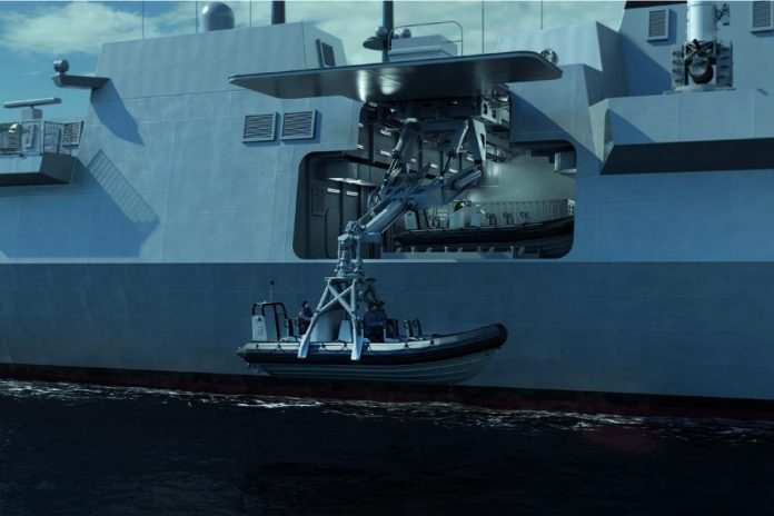 The Rolls-Royce Canadian naval marine division in Peterborough designs and manufactures the company's mission bay handling system, used to deploy and recover naval vehicles and packages from ships. (Photo: Rolls-Royce Holdings plc)