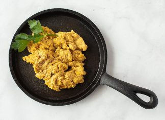 "Equivalent in protein to a chicken's egg but with significantly fewer calories and less fat per serving, ""the egg"" is a finalist for the 2020 World Food Innovation Awards for ""Best food concept"", ""Best ingredient innovation"", and ""Best plant-based alternative"". (Photo: Eunite Foods / Noblegen)"